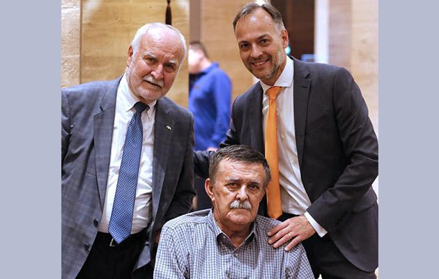 Prof. dr Theo Seiler, prof. dr Mirko Jankov i Dusan Vukojevic